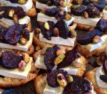 brie with fig and pistachio