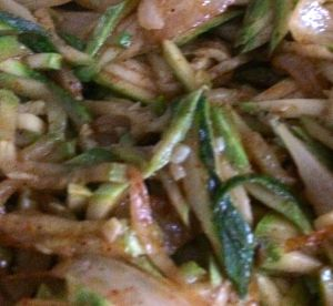 shredded zucchini